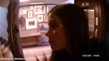 Blowjob close to the HOTEL RECEPTION : Little Caprice