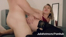 stepdad cuckold, stepmom fucked next to her resting husband