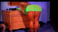 Extreme Muscular Calves Show in Green Dress and Heels by LDR (Calf Queen)