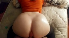 PAWG Wife Gets Oiled Up & Twerks On Cock