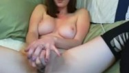 Big dildo tits stockings Justamber stockings