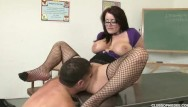 Students fucking teacher Sophie dee fucks student in detention