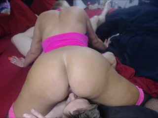 Sexy blonde babe loves to deepthroat cock and get fucked in her pussy & ass