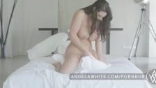 Big Tit Australian Angela White Masturbating in Bed