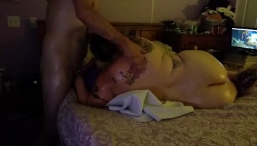 Lubing up the before she gets what cumming to her part.1