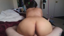 Pregnant Slut Sucking and Riding Cock