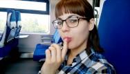 Teens blowjobs in public Публичный минет в поезед