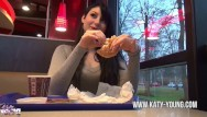 Katy perrys hot ass Katy young - hot teengirl blows, gets fucked and eats cum at burger king