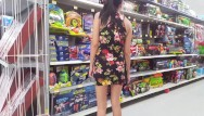 Upskirt phptps Walmart flashing in a mini dress - upskirt - lydia luxy