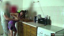 Step mom force fucked and get creampie by step son while she is stuck