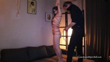 E#6: Dom/Sub - Suspended rope bondage play with my slutty cute sub + fucked