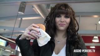 Public Blowjob with Cumshot at Burger Store