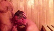 Sons of dracula x gay Daddy son cock suck in the sauna