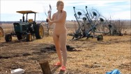 Andrea swanson naked Naked chopping wood- andrea sky