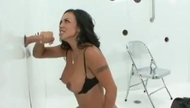 Latina with Big Tits Sucks n Fucks at Glory Hole!