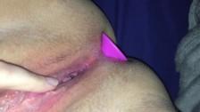 Close Up POV Punk Girl Fills Both Holes POV