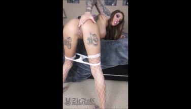 TEEN Karma Rx with BIG DICK Sybian Sex Machine