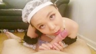 Shemale sakura Maid sakurachan makes a mess to clean up