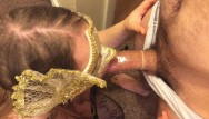 Condoms special gold Wife gives husband a blowjob with condom
