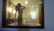 Teen girl partying see through Miamaxxx luxury tattooed cover girl see-through window fun