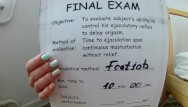 Teens exam pass xxx Footjob stamina text part 2. retake exam. pass or fail