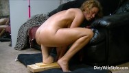 Monster squirting pussy clips free Horny babe rides and fucks a brutal monster dildo to make her pussy happy
