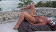 Hot gushing orgasm Hot wife masturbates on castle top gushing orgasms