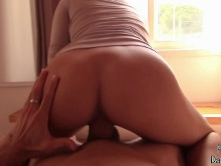 Step sister wank,suck and gets in ass in front of the window