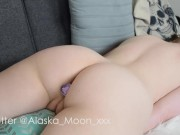 Pillow Humping With My Butt Plug
