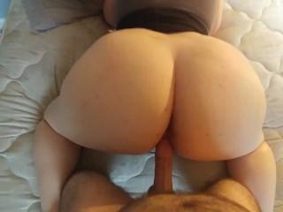 POV PAWG Wife With Huge Tits Sucks & Fucks
