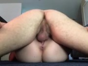 Passing out and cumming hard chokefuck (and cream pie)