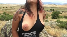 Outdoor tease & strip with my tits, tight ass, and pussy!