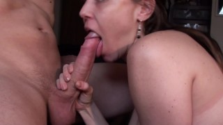 Blowjob From Sexy Busty Girlfriend, Shot On Valentine's Day In HD Close Up!