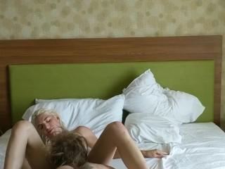 Hot blonde enjoys big cock