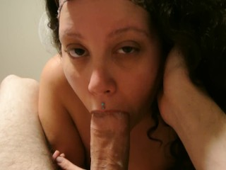 Stoned, Worshiping His Massive Cock & Swallowing (Part 2)