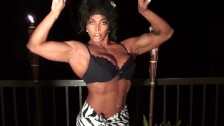 On The Patio Erotic Dance and Pec Flexing by LDR