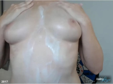 Live Lotion and Breast Massage Show