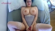 Wife shows off her tits Busty babe showing off her huge tits while getting fucked