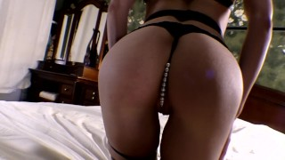 My new seductive outfit made him cum in my ass too quickly. Mia Bandini