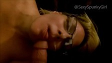 Cum On My Girlfriend's Glasses: Old Homemade Sex Tape