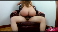 Teen Bubble butt Fucking on Daddy's favorite armchair (Creampie)