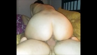 BIG ASS AMATEUR BABE DOES IT ALL AND GETS CUMMED ON BY BIG DICK