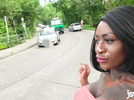 Spermwalk And Public Anal  + Ass To Mouth, Tattooed Ebony