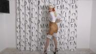 Dirty talk girls tgp Schoolgirl striptease dirty talking stockings fetish