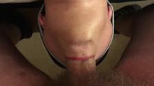 Swedish girl deepthroats and uses cumshot on her buttplug