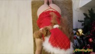 Shemale fuck real girl Hoe hoe hoe...sexy santa girl enjoys the real christmas spirit