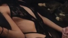 Sexy Amateur Fucked Hardcore in Crotchless Lingerie