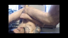 SEXY Stud precums and pisses in his mouth and works his HOT hole so nicely