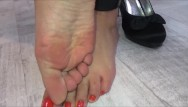 Cute european girl blowjob Girl gets her feet and her mouth fucked