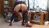 Sexy maid vacuum Red heels vacuum cleaning fetish - alhana winter - upskirt pussy shots